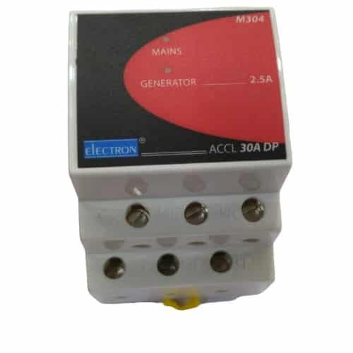 Buy Electron 30A 1 Phase 2 Pole DP DP Auto changeover (DG Available upto 20A) ACCL M304 Online