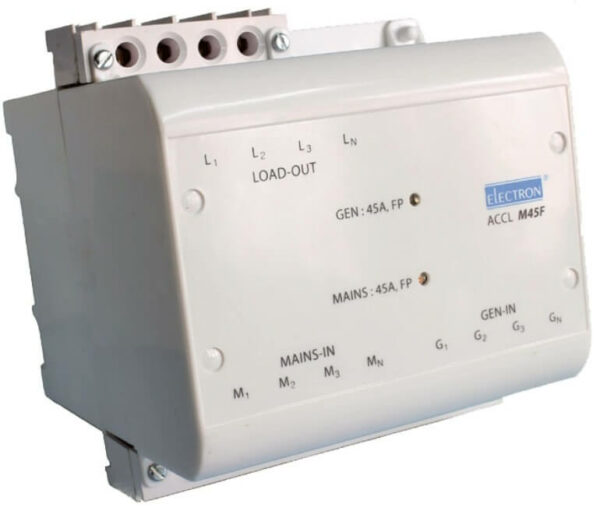 Buy Electron 45A 3 Phase 4 Pole FP Auto changeover (DG Available upto 45A) ACCL M45F Online