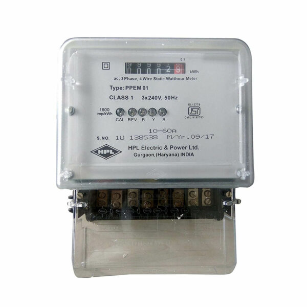 Buy HPL Three Phase KWH Meter 10-60A Counter type 415/440 Volts Polycarbonate Body Online