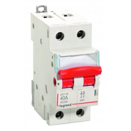 Buy Legrand Isolators DX3 40A 2 Pole DP 240 V AC applications 4065 01 Online