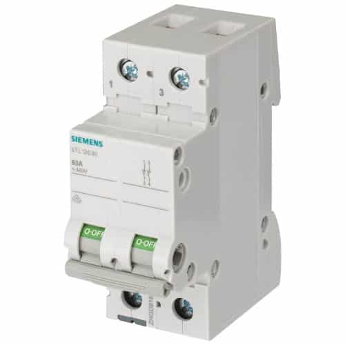 Buy Siemens Betagard Isolator 2 Pole DP 32A 5TL12320 Online