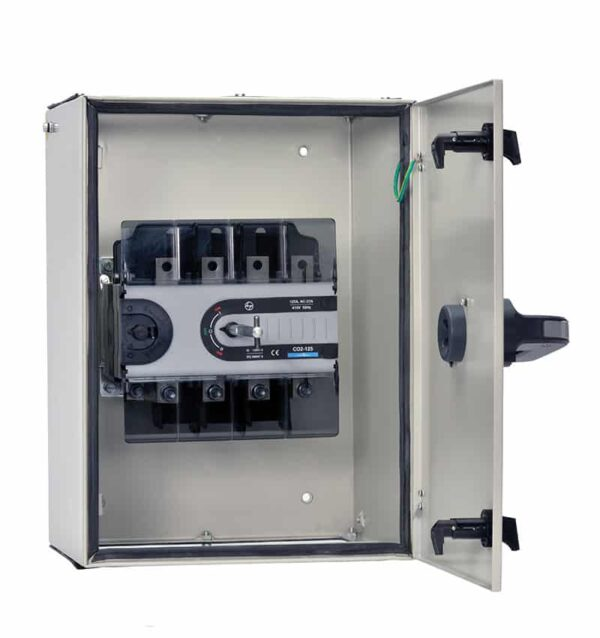 Buy L&T Switchgear 63A Manual Changeover in Sheet Steel Enclosure Extended Handle Fr 1 Size CO1-63 CO10630OSOO Online