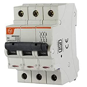 Buy L&T Switchgear Exora 20A MCB 'C' Curve 10kA 3 Pole TP BB30200C Online