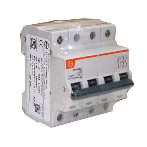 Buy L&T Switchgear Exora 10A MCB 'C' Curve 10kA 4 Pole FP BB40100C Online