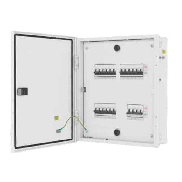 Buy L&T Switchgear Exora 16 Way TPN DB IP 43 - Double Door Metal 8 + 48M DBTPN016DD Online
