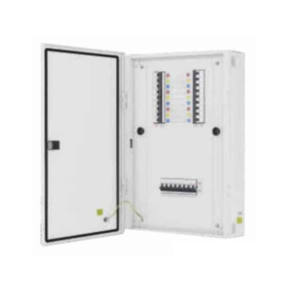 Buy L&T Switchgear Exora 16 way VTPN DB for FP MCB/ Isolator/ RCCB/ RCBO Double Door Metal IP43 8 + 48M DBVTM016DD Online