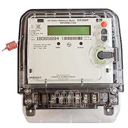 Buy L&T Switchgear 10-60 A kWh Meter LCD display 3 Phase 4 Wire 240V Acc 1 ER300P Base Mounting WR301BC7D10 Online