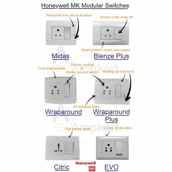 Buy honeywell mk evo modular switch white online