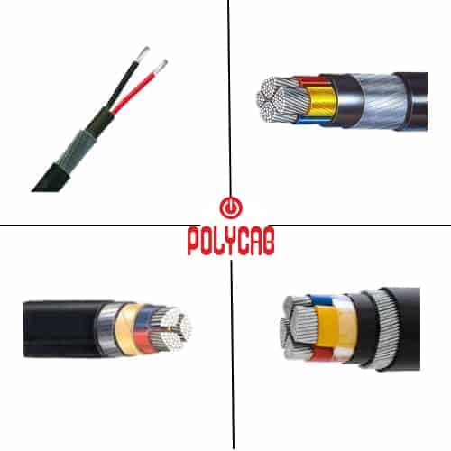 Buy polycab armoured aluminium lt cable pvc/xlpe insulated overall pvc sheathed 1100 volts online